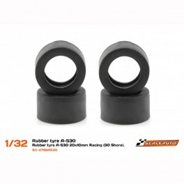 Neum. Goma A-S30 20x10mm Racing Slick (Shore 30) para Llantas de 15,8 a 17mm.