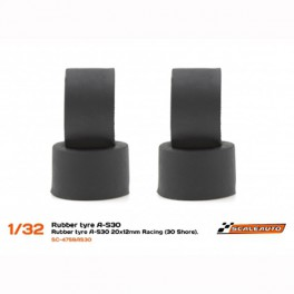 Neum. Goma A-S30 20x12mm Racing Slick (Shore 30) para Llantas de 15,8 a 17mm.